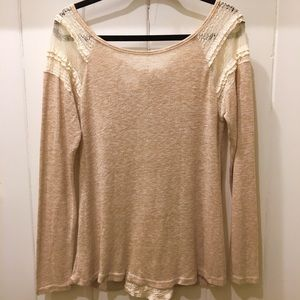 Anthropologie A'reve Top with Lace